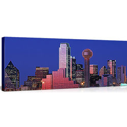 Dallas Skyline at Night Canvas