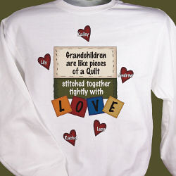 Stitched Together Quilting Personalized Quilters Sweatshirt