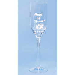 Maid Of Honor Wedding Champagne Flute