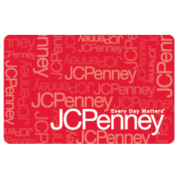 JC Penney Red Standard $50 Gift Card