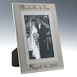 Personalized Stainless Steel Photo Frame