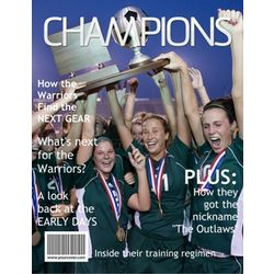 Champions Personalized Magazine Cover Digital Print