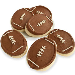 Box of 24 Football Cookies