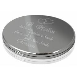 A Mother Forever Round Compact Mirror