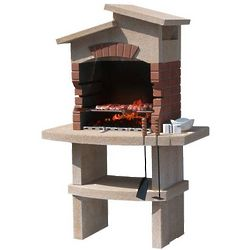 Masonry BBQ for Charcoal and Wood