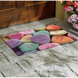 Personalized Conversation Hearts Doormat