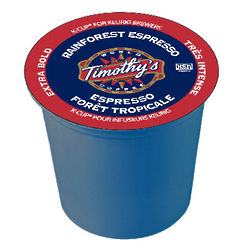 Timothy's Rainforest Espresso K-Cup Coffee
