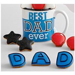 Best Dad Ever Mug with Mini Cookies