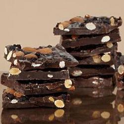 Blueberry and Almond Dark Chocolate Bark