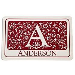Personalized Initial Floral Doormat
