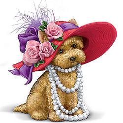 Yorkie Diva Doggie Figurine