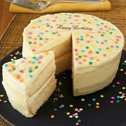 Classic White Birthday Cake