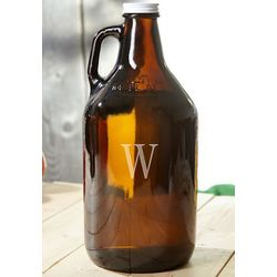 Amber Personalized Beer Growler