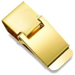 Personalized Gold Hinged Money Clip