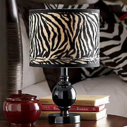 Faux Fur Zebra Lamp