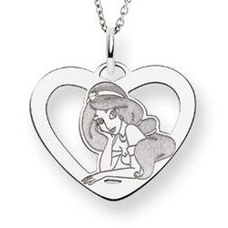 Sterling Silver Disney Princess Jasmine Pendant