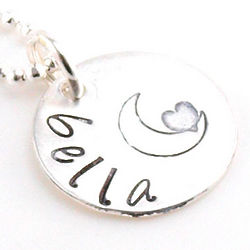Daughter's Simply Hung the Moon Personalized Necklace