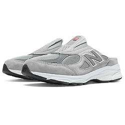Grey and White New Balance 990V3 Men's Running Shoes