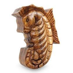 Balinese Seahorse Wood Puzzle Box