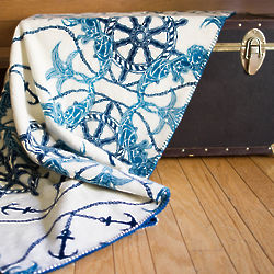 Fathoms Below Nautical Blanket