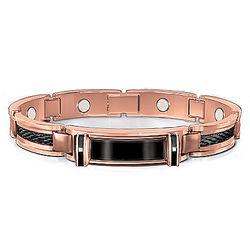 Men's Nature's Healing Strength Copper and Diamond Bracelet
