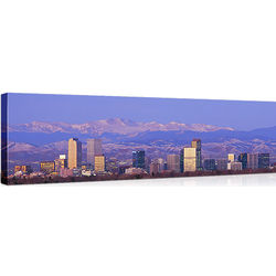 Rocky Mountains and Denver Skyline Canvas