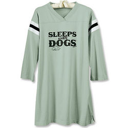 Sleeps with Dogs Women's Nightshirt