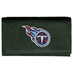Tennessee Titans Black Leather Embroidered Checkbook Cover