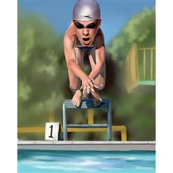 Olympic Swimmer Caricature from Photos
