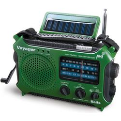 4-Way Emergency Weather Alert Radio With Cell Phone Charger