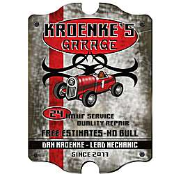 Vintage Personalized Garage Pub Sign