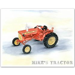 Personalized Mike's Tractor Print