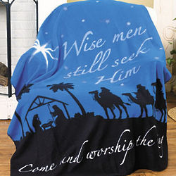 Wise Men Still Seek Him Nativity Throw