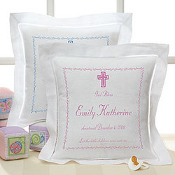 Bless Baby Personalized Christening Pillow