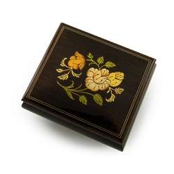 Floral Rosewood Music Box