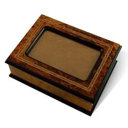 Contemporary 4x6 Photo Frame Lid 30 Note Musical Jewelry Box