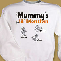 Lil' Monsters Personalized Halloween Sweatshirt