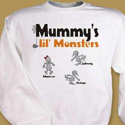 Lil' Monsters Personalized Halloween Sweatshirt