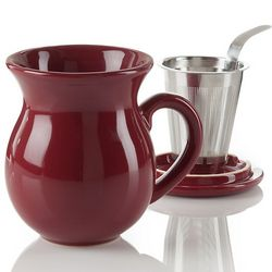 Curve Red Infuser Mug