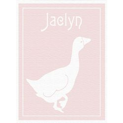 Baby Pink Goose Canvas Art