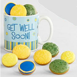 Get Well Soon Mug with Mini Cookies