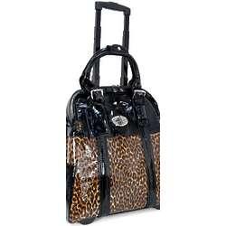 Women's Leopard Print Roller Briefcase