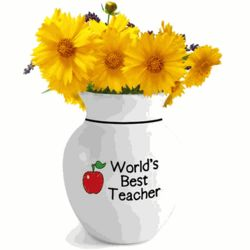 Teacher's Personalized Vase