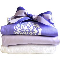 Periwinkle Bloom Burp Cloth Set