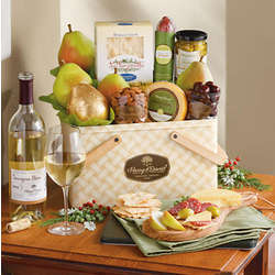 Picnic Gift Basket with Wine
