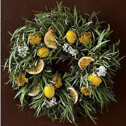 Lemon and Herbs Wreath