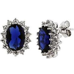 Princess Diana Replica Sapphire Cubic Zirconia Royal Earrings