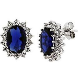 Princess Diana Replica Sapphire Cubic Zirconia Royal Earrings