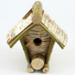 Rustic Birch and Maple Wood Bird House