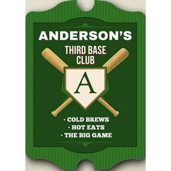 Third Base Club Personalized Sign